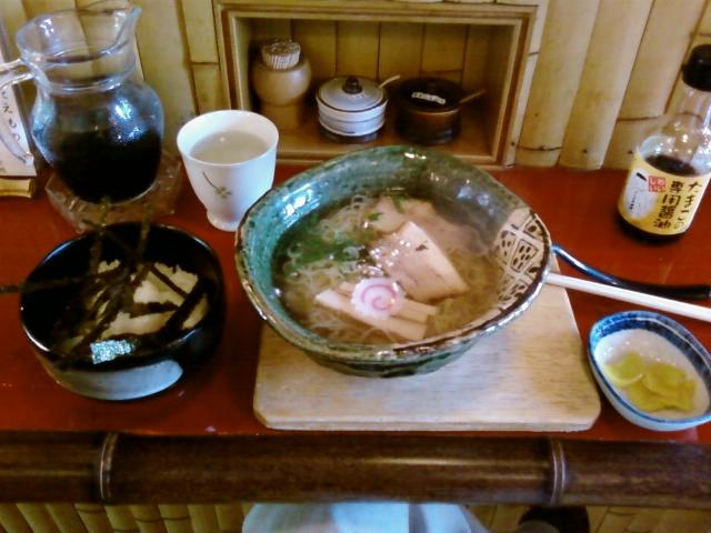 温玉御飯+竹燻製麺