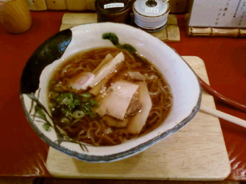 甘露醤油麺です。